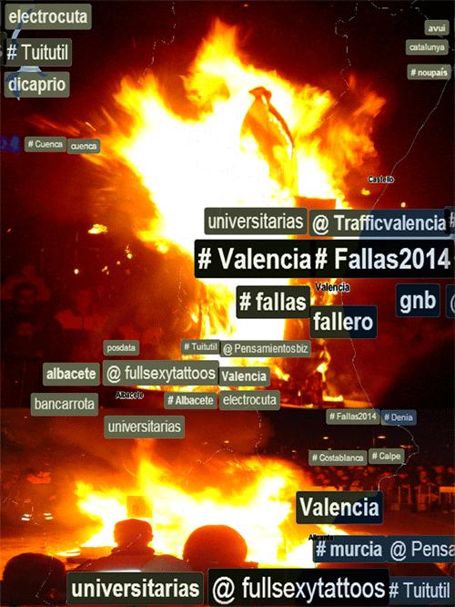 #fallas2014 vlc arde Valencia
