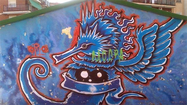 #graffiti azul #streetart